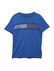 ESSENTIAL FLAG TEE S/S - OLYMPIAN BLUE