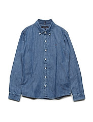 DENIM SHIRT L/S - MID BLUE
