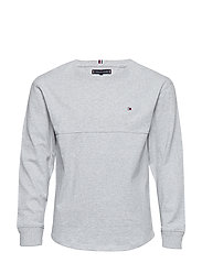 FASHION RELAXED SLUBBY TEE L/S - GREY HEATHER
