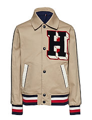 LETTERMAN REVERSIBLE JACKET - WHITE PEPPER