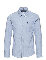SEERSUCKER STRIPE SHIRT - SHIRT BLUE