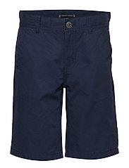 ESSENTIAL TWILL NEW CHINO SHORT - BLACK IRIS