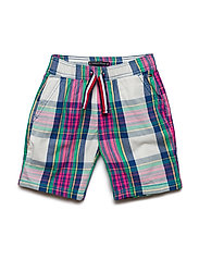 MADRAS CHECK BEACH SHORT - BRIGHT WHITE