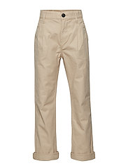 RECYCLED WIDE LEG CHINO - WHITE PEPPER