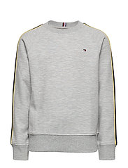 STRIPE INTERLOCK SWE - GREY HTR