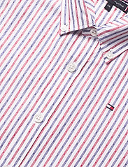 Tommy Hilfiger - DOBBY STRIPE SHIRT L - shirts - white stripe 02/racing red - 2