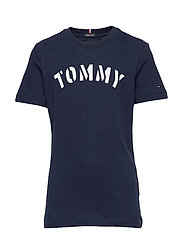 ESSENTIAL TOMMY GRAPHIC TEE S/S - BLACK IRIS