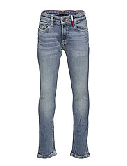 STEVE SLIM TAPERED DAZDBST - DAZZLE DESTRUCTED BLUE STRETCH
