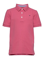 ESSENTIAL TOMMY REG POLO S/S - LIGHT CERISE PINK
