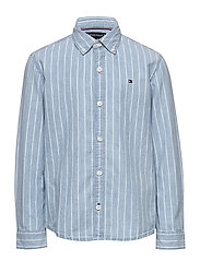 DENIM STRIPE SHIRT L/S - DENIM LIGHT 01