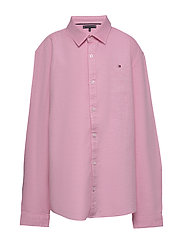 STRUCTURED LINEN SHI - LIGHT CERISE PINK