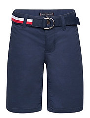 ESSENTIAL BELTED CHINO SHORTS - TWILIGHT NAVY