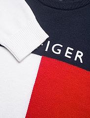 Tommy Hilfiger - HILFIGER COLORBLOCK SWEATER - sweatshirts - twilight navy - 2