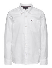 BACK DETAIL STRETCH OXFORD SHIRT - WHITE