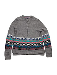 FAIRISLE CARDIGAN - GREY