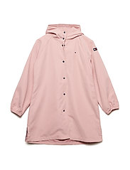 HOODED PARKA - BRIDAL ROSE