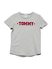 ESSENTIAL TOMMY TEE S/S - GREY HEATHER