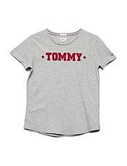 ESSENTIAL TOMMY TEE - GREY HEATHER