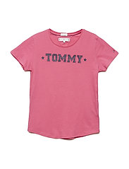 ESSENTIAL TOMMY TEE - PINK FLAMBE