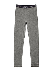 VELOUR LEGGINGS - GREY HEATHER
