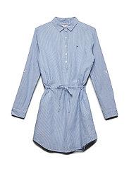 SPARKLE STRIPE DRESS - SODALITE BLUE