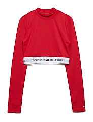SPORTS CROPPED L/S, - APPLE RED