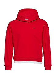 ICONIC LOGO HOODIE - TRUE RED