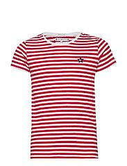 STAR FLAG S/S TEE - BRIGHT WHITE/TRUE RED
