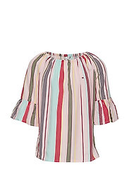CANDY STRIPE TOP S/S - ALMOND BLOSSOM