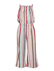 CANDY STRIPE JUMPSUIT - ALMOND BLOSSOM