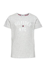 ESSENTIAL TOMMY PRINT TEE S/S - GREY HTR