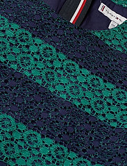 Tommy Hilfiger - LACE STRIPE DRESS SL - robes - eclipse/ivy - 3