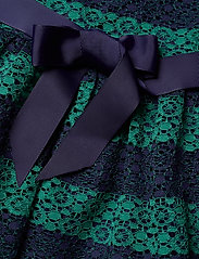 Tommy Hilfiger - LACE STRIPE DRESS SL - robes - eclipse/ivy - 4