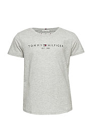 ESSENTIAL  TEE S/S - LIGHT GREY HEATHER