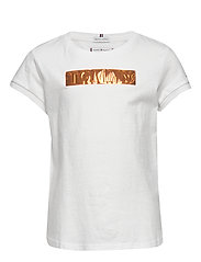TOMMY FOIL LABEL TEE S/S - WHITE