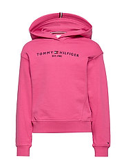 ESSENTIAL HOODED SWE - BLUSH RED