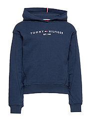 ESSENTIAL HOODED SWE - TWILIGHT NAVY