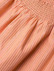 Tommy Hilfiger - LUREX STRIPE DRESS S/S - robes - melon orange - 2