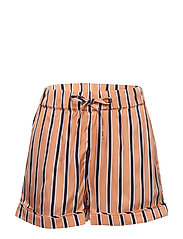 RESORT STRIPE SHORTS - MELON ORANGE/ TWILIGHT NAVY
