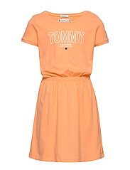 JERSEY TEE DRESS S/S - MELON ORANGE