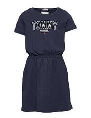 JERSEY TEE DRESS S/S - TWILIGHT NAVY