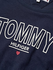 Tommy Hilfiger - JERSEY TEE DRESS S/S - robes - twilight navy - 2