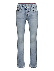 NORA SKINNY FLARE - CLBSTR - CLOUDY LIGHT BLUE STRETCH