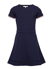 ESSENTIAL SKATER DRESS - TWILIGHT NAVY