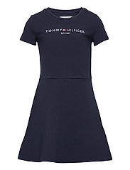 ESSENTIAL  SKATER DRESS S/S - TWILIGHT NAVY