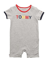 AMUSED BABY BOY SHOR - LIGHT GREY HTR