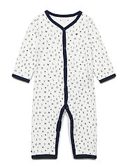 BABY PREPPY PRINT COVERALL