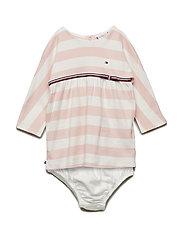 BABY RUGBY STRIPE DRESS L/S