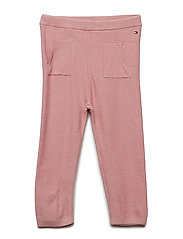 BABY KNITTED PANTS - BLUSH