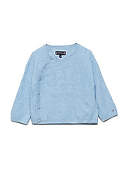 BABY KNITTED CARDIGAN - DUSK BLUE